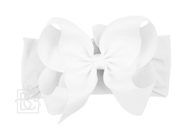Big White Headband Bow