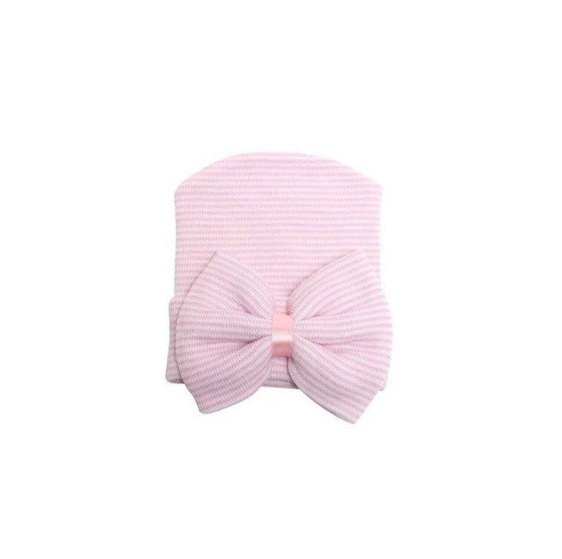 Pink and white stripe hospital hat