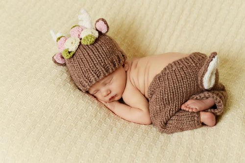 Newborn Girl Deer Hat - RaineHills