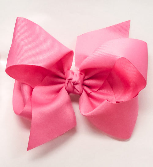 Large Bow - Hot Pink w/clip
