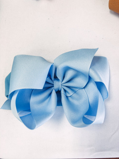 Noah  Headband Bow - Millenium Blue