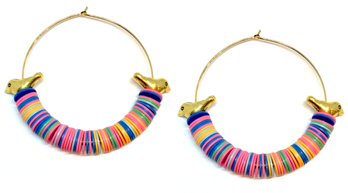 Aves Hoop Earrings - Multi