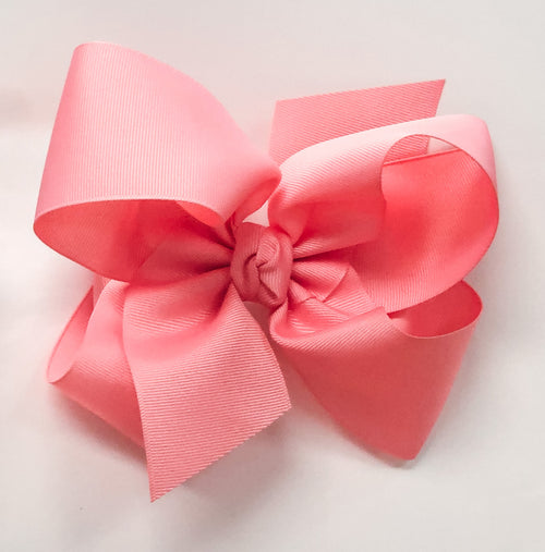 Large Bow - Shell Pink w/clip
