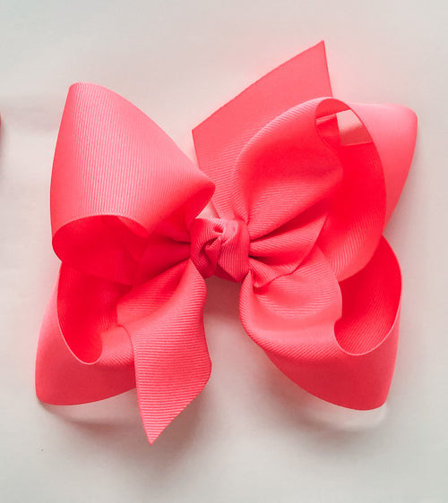 Large Bow - Neon Pink