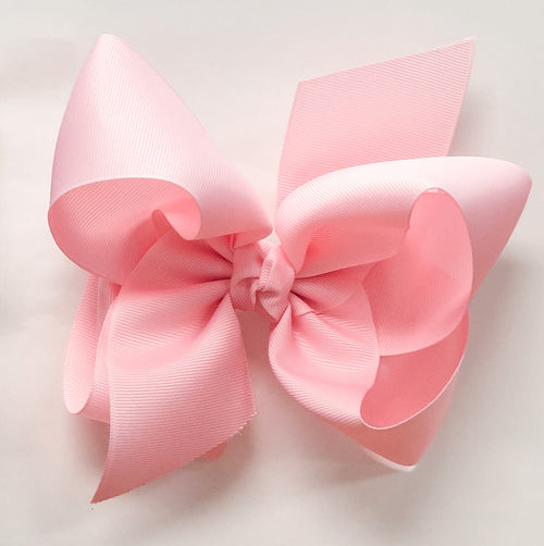 Large Bow - Light Pink w/clip