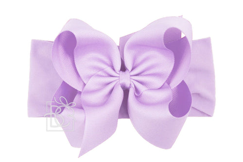 Noah Headband Bow - Light Orchid