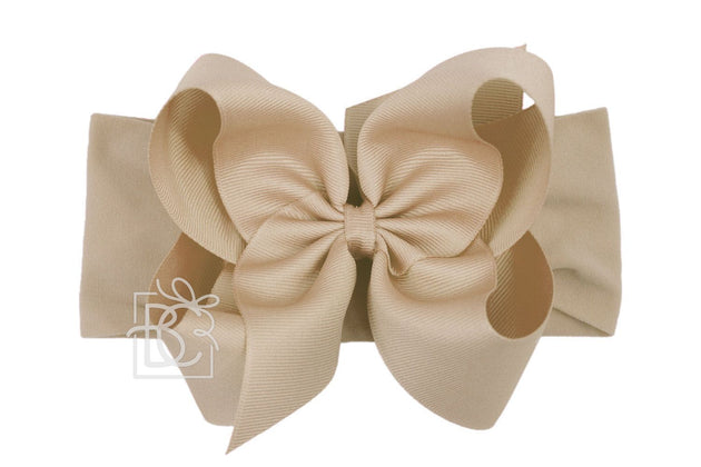 Noah Headband Bow - Oatmeal