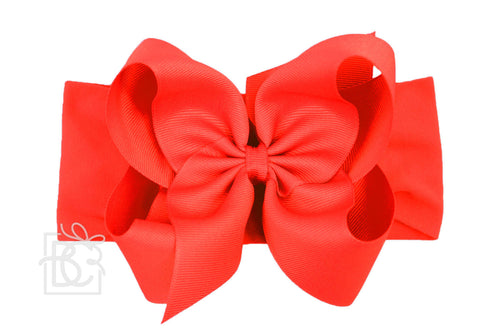 Big Red Headband Bow