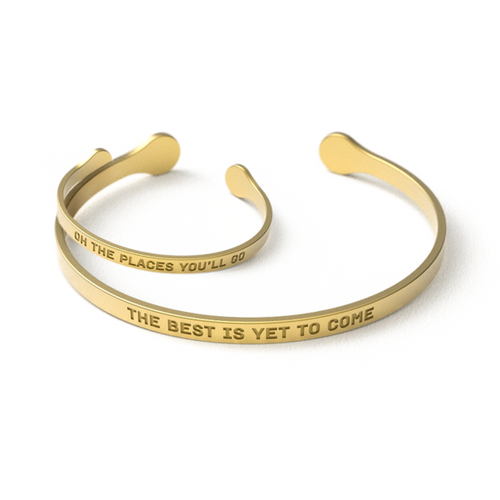 Mommy and Me Bracelets - Oh the places you will go/ The best is yet to come - RaineHills