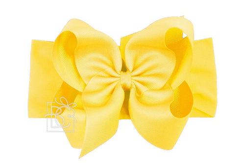 Noah Headband Bow - Yellow