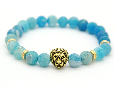 Sahara Light Blue Sky Gold Bracelet