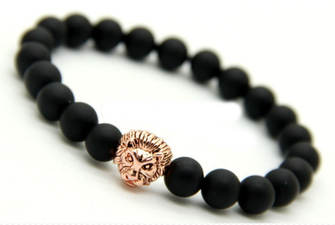 Sahara Matte Black & Rose Gold Bracelet
