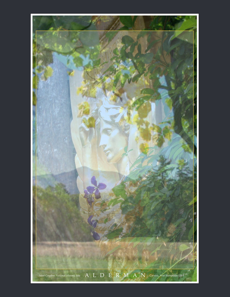Holly Alderman WALLGAZE Saint Gaudens Garden Banners Amor Chelsea Flower Show