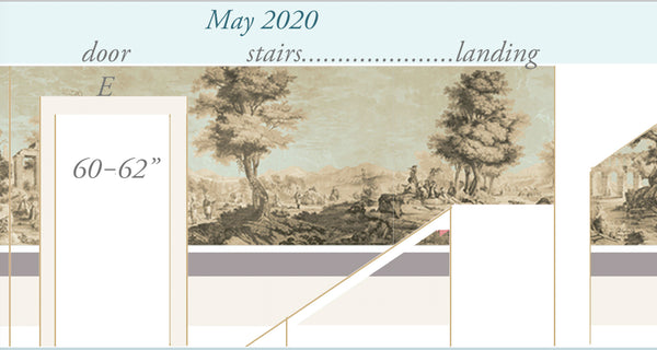 Holly Alderman Studio new Dufour wallpaper scenes, Views of Antiquity, Peabody edition 1