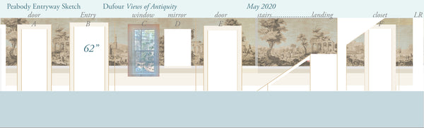 Holly Alderman Studio new Dufour wallpaper scenes, Views of Antiquity, Peabody edition 3