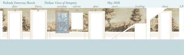 Holly Alderman Studio new Dufour wallpaper scenes, Views of Antiquity, Peabody edition 4