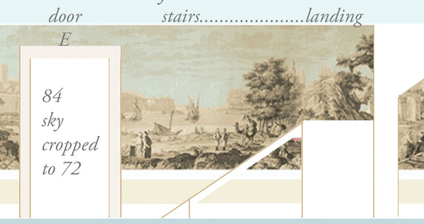 Holly Alderman Studio new Dufour wallpaper scenes, Views of Antiquity, Peabody edition 6