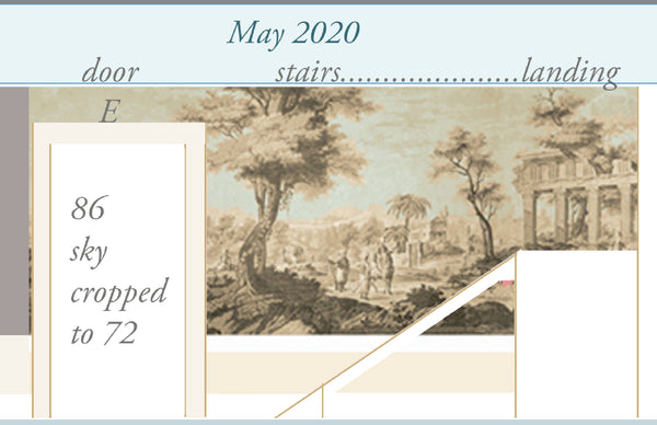 Holly Alderman Studio new Dufour wallpaper scenes, Views of Antiquity, Peabody edition 8