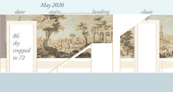 Holly Alderman Studio new Dufour wallpaper scenes, Views of Antiquity, Peabody edition 7