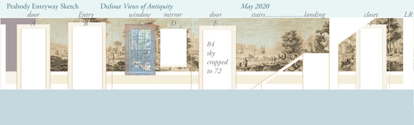 Holly Alderman Studio new Dufour wallpaper scenes, Views of Antiquity, Peabody edition 9