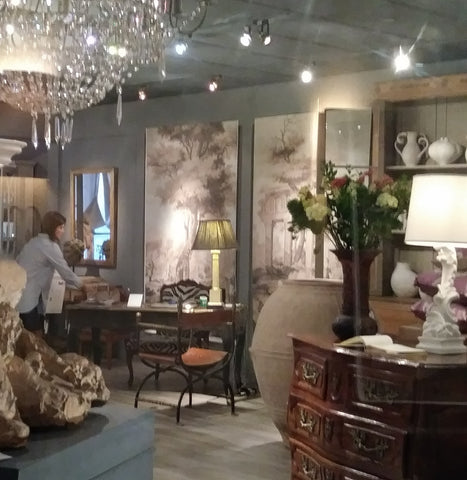 Bermingham & Co. displays Holly Alderman Scenic Wallpaper at the D&D in New York