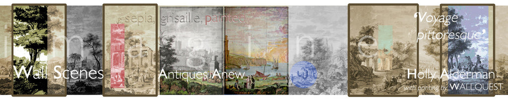 Holly Alderman WALLGAZE Wallpaper Views of Antiquity Color variations and posterizes innovations