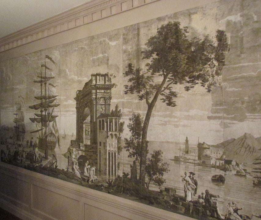 Holly Alderman WALLGAZE Wallpaper Views of Italy Rose Hill The Cay Collection