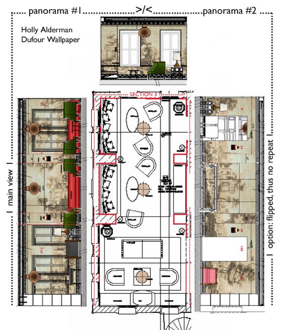 Holly Alderman Wallpaper Elevations Layout New Dufour Hotel Lobby