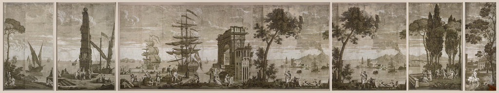 Holly Alderman WALLGAZE Wallpaper Views of Italy The Cay Collection new Dufour original sepa