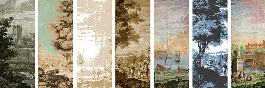 Holly Alderman WALLGAZE Wallpaper Views of Antiquity color variations