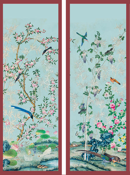chinoiserie wallpaper panels for framing