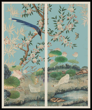 Holly Alderman WALLGAZE Wallpaper Chinoiserie Panels 1 and 2 Prints