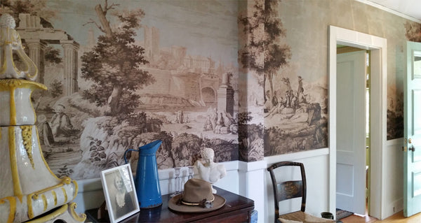 Holly Alderman WALLGAZE WAllpaper Views of Italy new Dufour Dublin Peabody