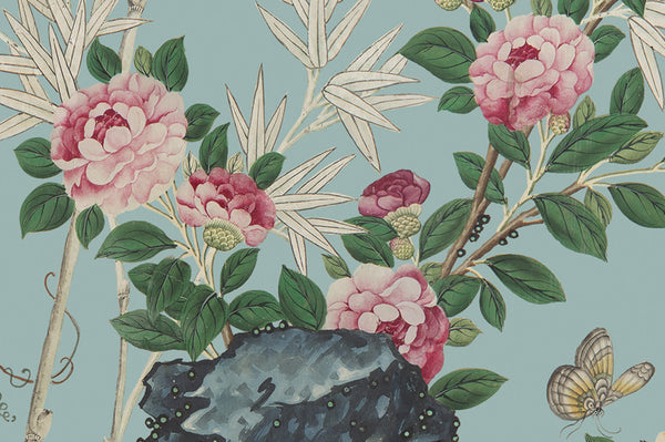 Holly Alderman Wallpaper Chinoiserie Garden Hamlen Collection roses