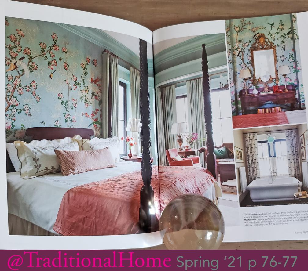 Hamlen Chinoiserie Wallpaper in Tradtional Home spring 21 Holly Alderman