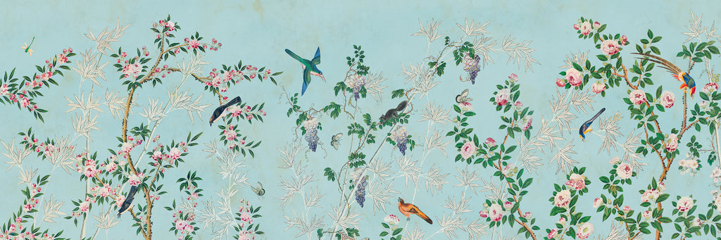 Maionstone chinoiserie, treetops in the Hamlen Collection by Holly Alderman