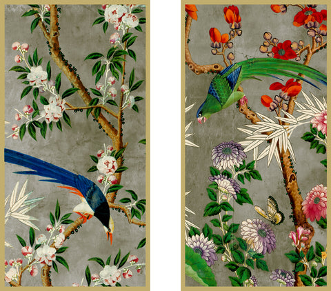 Chinoiserie Garden, Framed Art Panels & Variations