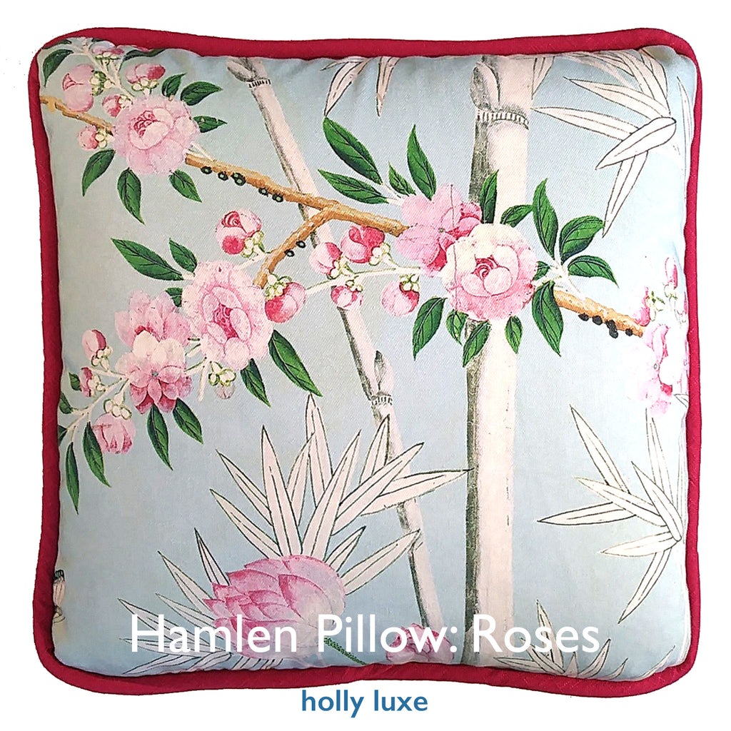 Pillow, Chinoiserie Roses