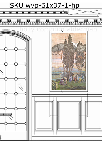 Views of Italy, French style art prints
