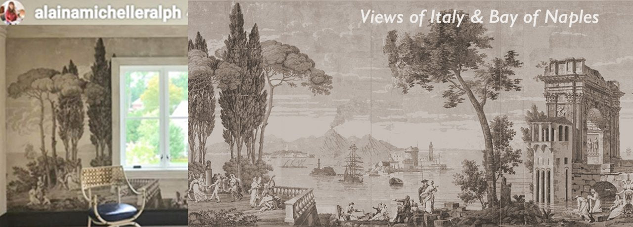 VIEWS OF ANTIQUITY WALLPAPER SCENES