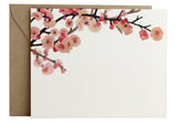 Cherry Blossoms Flat Note | Set of 10