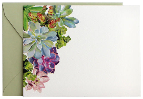 Succulents Flat Note | Set of 10