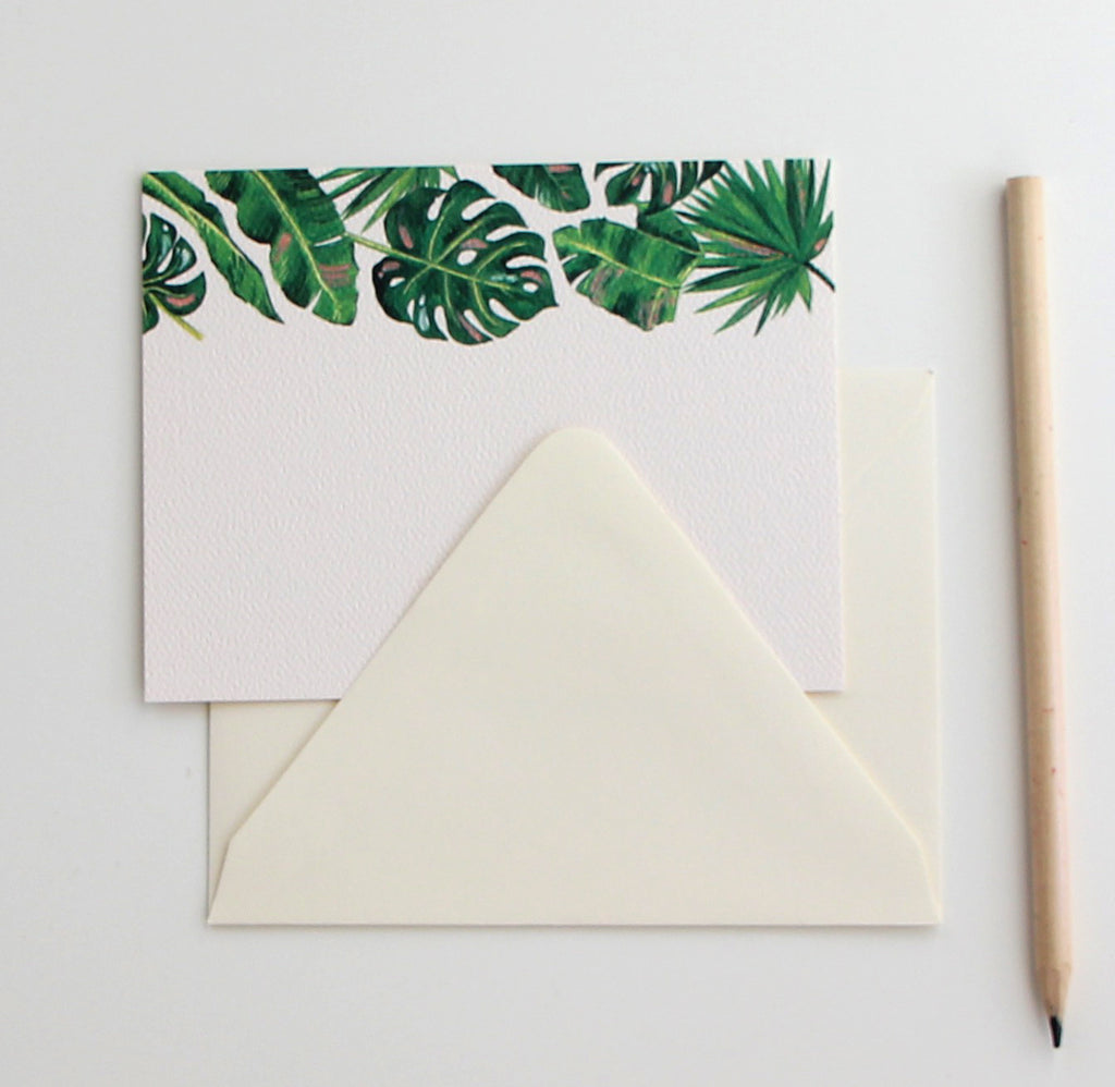 Lush Leaves Flat Note | Set of 10