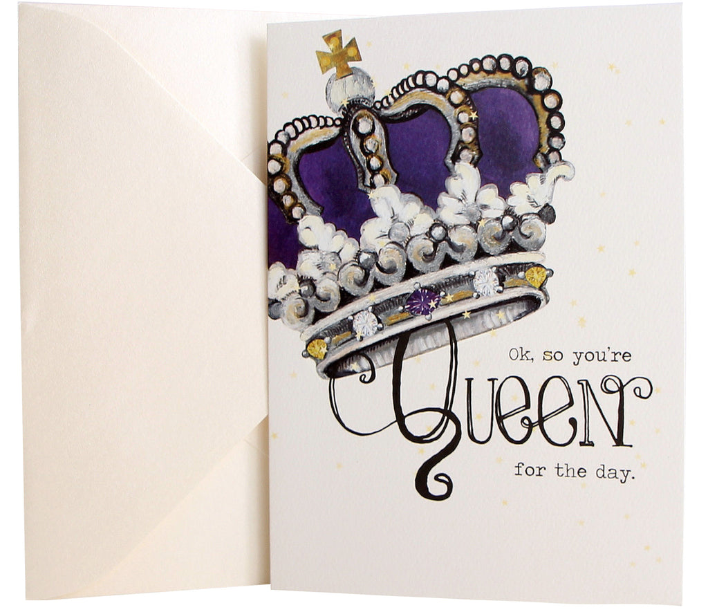 Birthday card queen crown kellykay birthday card queen crown bookmarktalkfo Choice Image