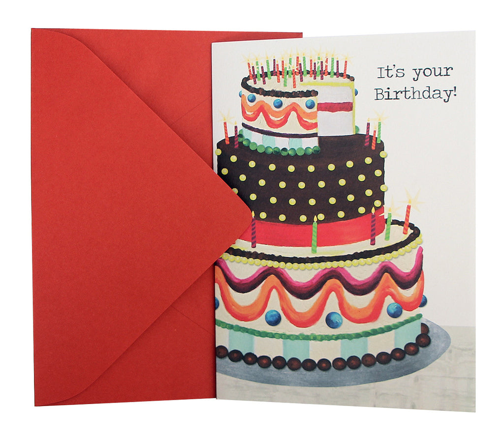 Birthday Card Multicolor Cake Kellykay