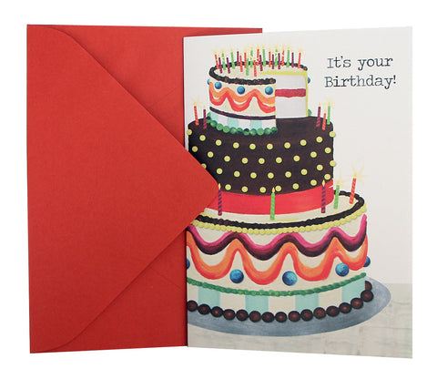 Birthday Card | Multicolor Cake
