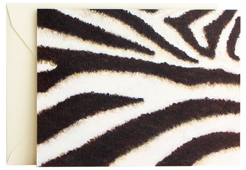 Zebra Print Fold Note | Set of 10
