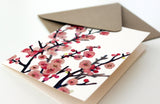 Cherry Blossoms Fold Note | Set of 10