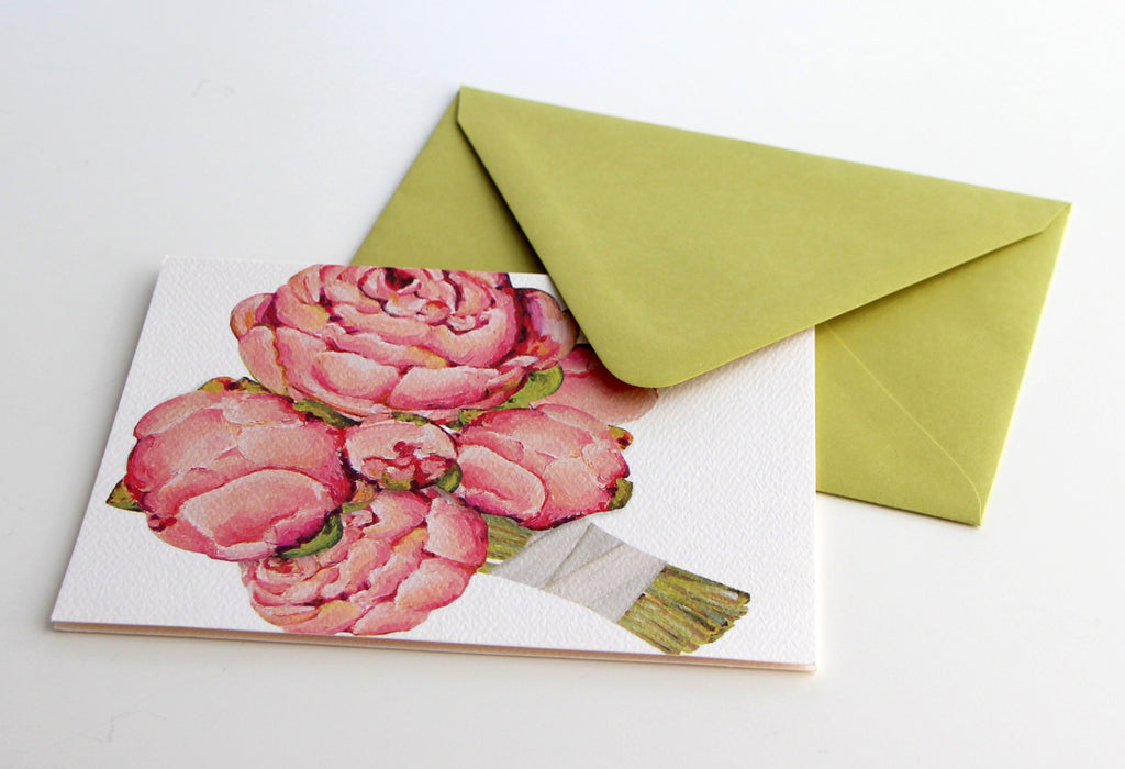 Fold Notes | Pink Peonies