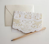 Fold Notes | French Lace + Scalloped Edge